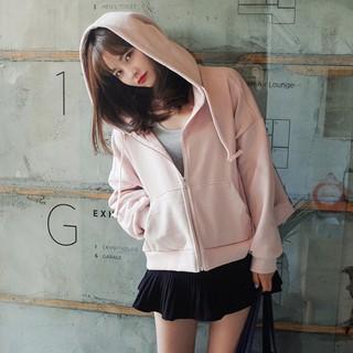 ⚡️ ลดเพิ่ม 130 ⚡️ เสื้อกันหนาว ซิปหน้ามีฮูด ทรงหลวม แฟชั่นเกาหลีแขนยาว