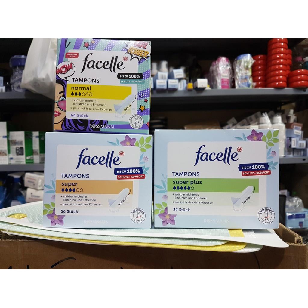 Băng vệ sinh Tampon Facelle các loại của Đức + Super 4 giọt + 56c
