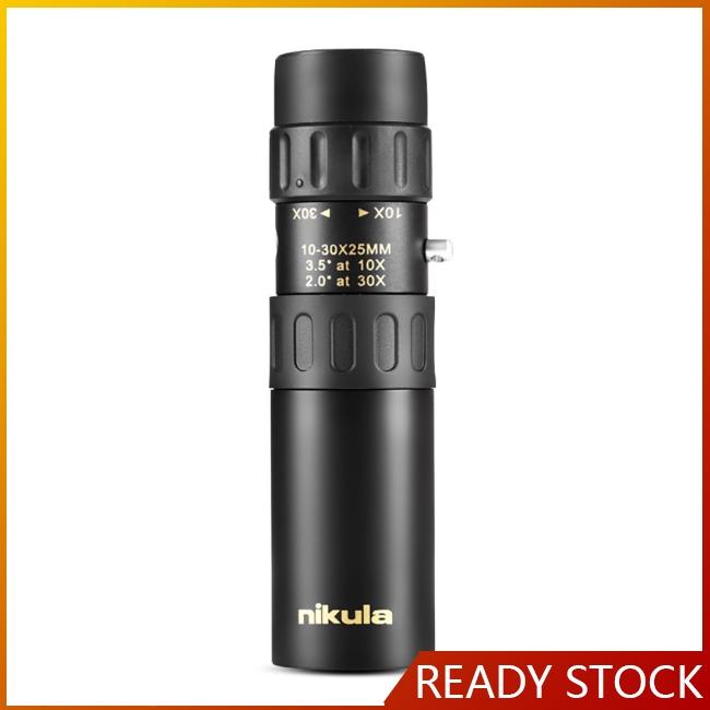 Nikula 10-30×25 Zoom Monocular Portable Telescopic Pocket Telescope