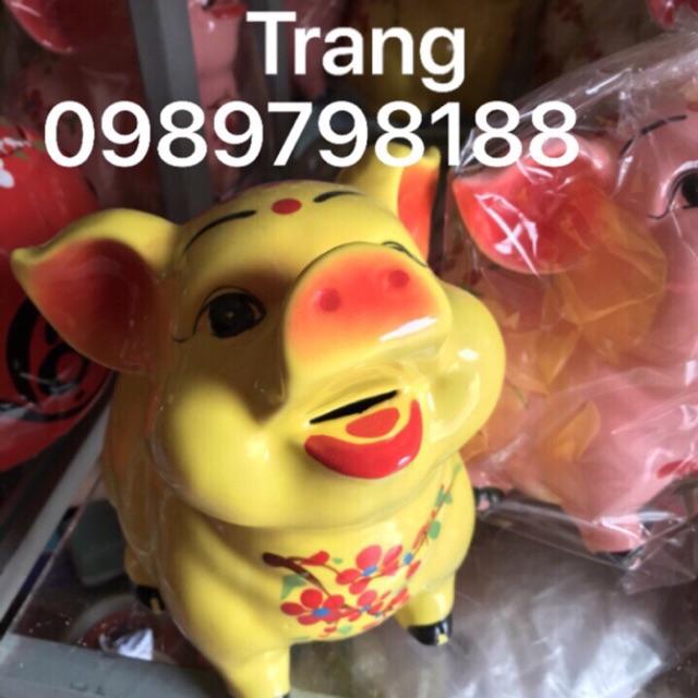 Heo tiết kiệm gốm sứ Bát Tràng cao cấp size 3 cao 23cm