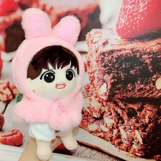 Hoodie thỏ bông cho doll 20cm