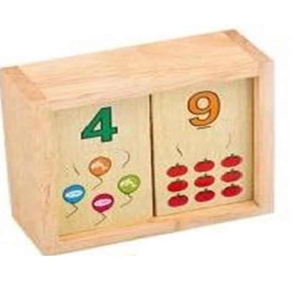 Đồ chơi học đếm đến 10 ghép số bằng gỗ, hokiti, đồ chơi trẻ em