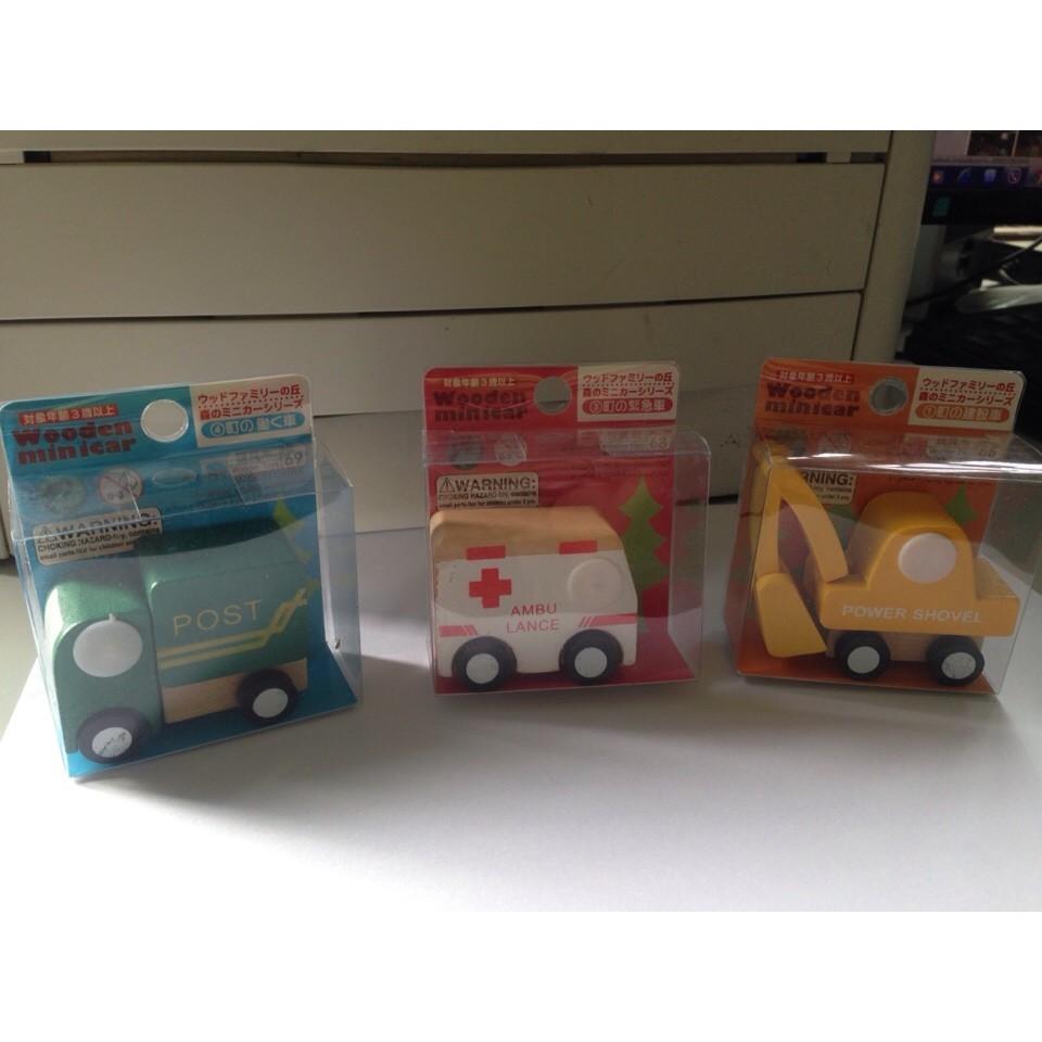Bộ đồ chơi ô tô gỗ xuất Nhật