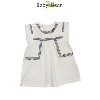 Đầm Đũi Thêu TAY Dáng Suông bé gái BabyBean