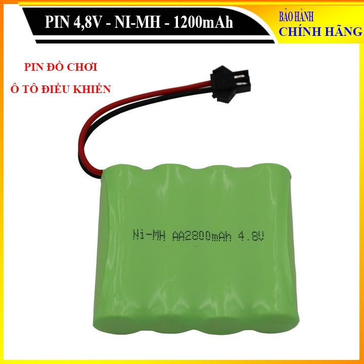 Pin Ni-Cd 4.8V 2800mAh cổng SM dành cho xe đồ chơi ô tô điều khiển (xanh)