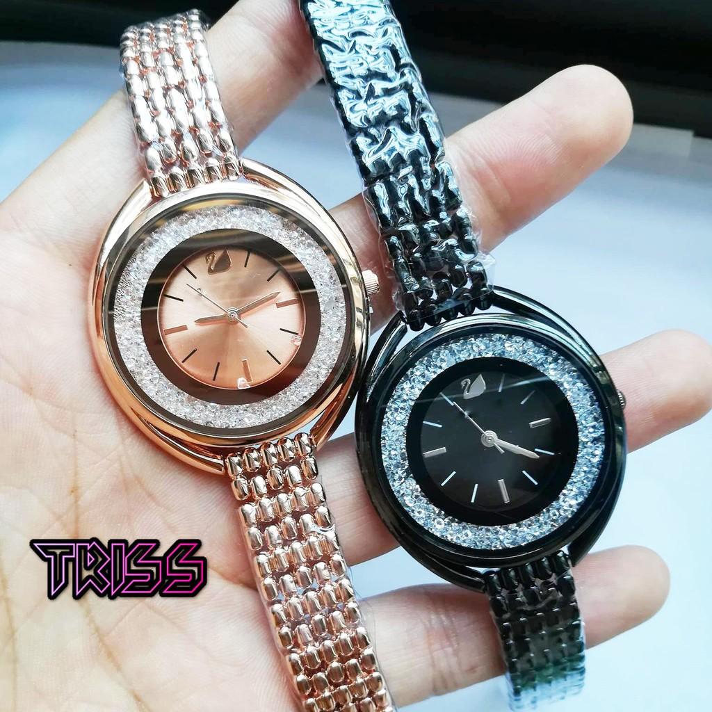 Đồng hồ Swadden vàng đồng và đen chính hãng