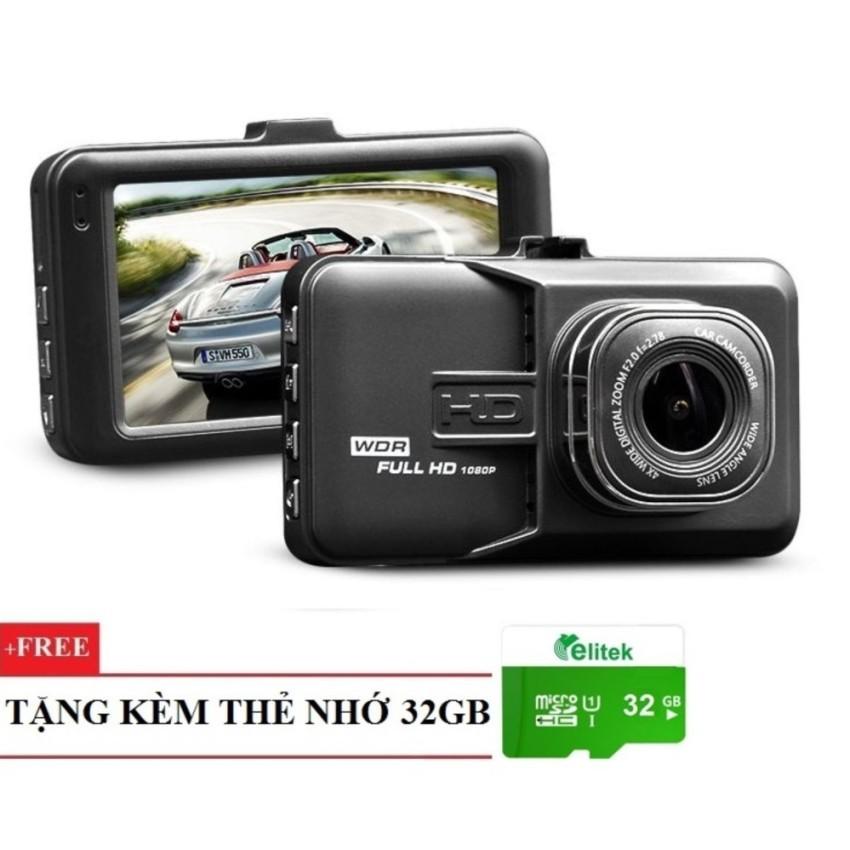 """Camera Full HD TACHOGRAPH C09 Màn Hình LCD 2.7"""" + Thẻ Nhớ 32GB"""
