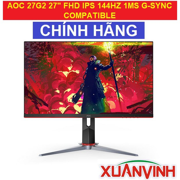 """Màn Hình AOC 27G2 27"""" FHD IPS 144HZ 1MS G-SYNC COMPATIBLE (New 100%, Chính Hãng)"""
