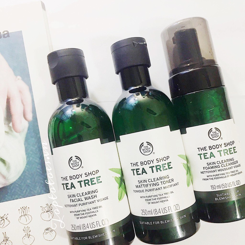 COLLECTION TEA TREE THE BODY SHOP - kiềm dầu - trị và kháng mụn siêu thần thánh