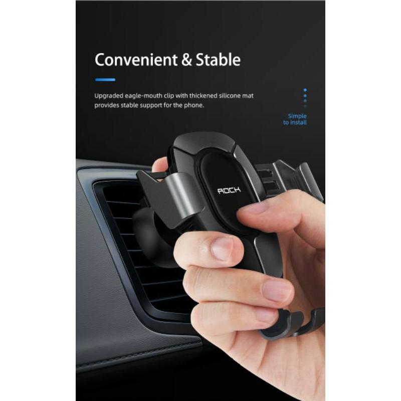 Kẹp điện thoại cửa gió ôtô Rock Gravity Air Vent Car Mount Pro