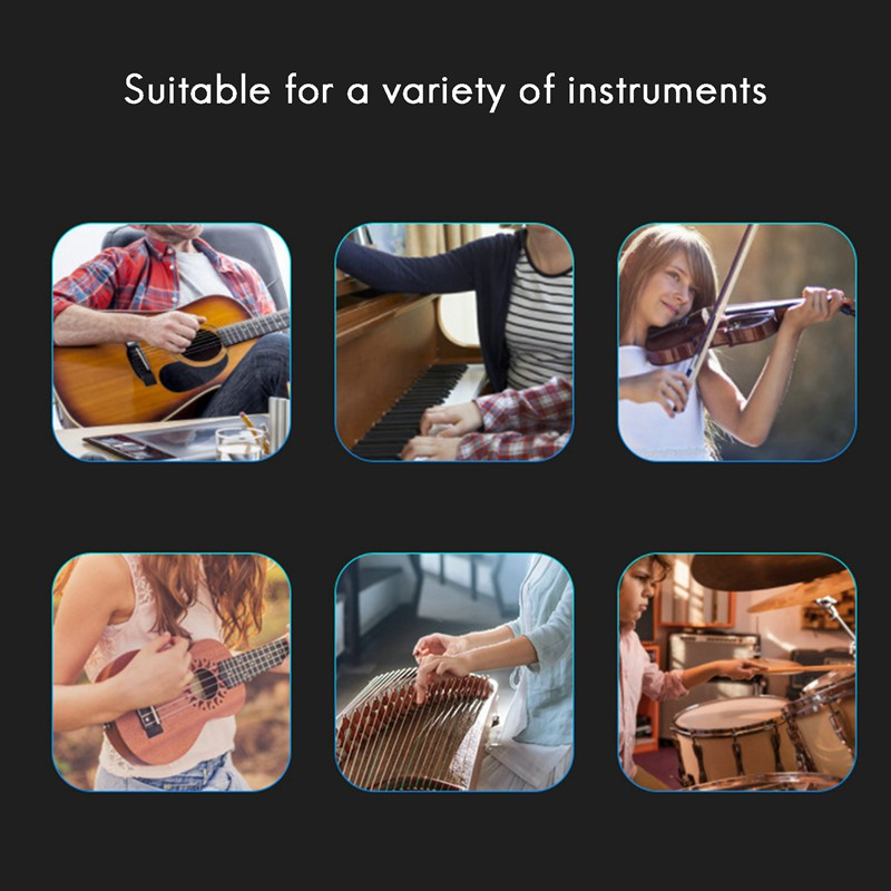 JOYO JM-60 LED Indicator Digital Metronome for Piano Drums Guitar Capo Digital Vocal Metronome USB Rechargeable-Pink
