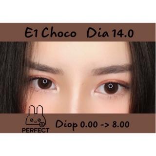 Link 2 (Giá 1 Chiếc) 14.0 (0.00- 8.00) Lens E1 Choco - Kính Áp Tròng thumbnail