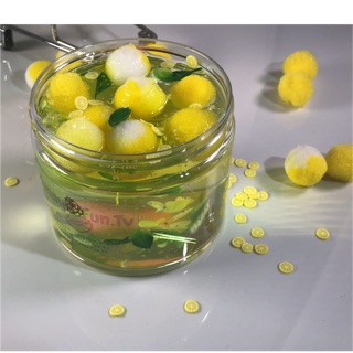 slime Lemon Pom- Pom Chanh
