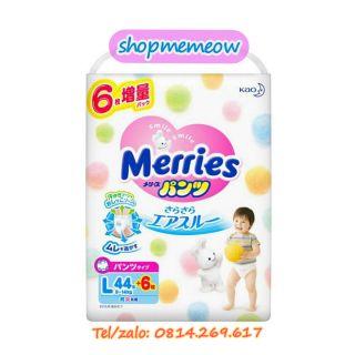 (Cộng Miếng) Tã Bỉm Merries dán quần đủ size NB90 6 S82 6 M64 4 L58 M58 6 L44 6 XL38 6 XXL26 2