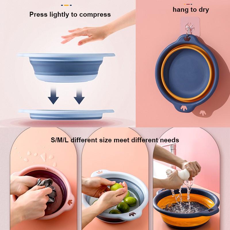 Chậu Rửa Chân Gấp Gọn Sáng Tạo Tiết Kiệm Không Gian Cho Bé
