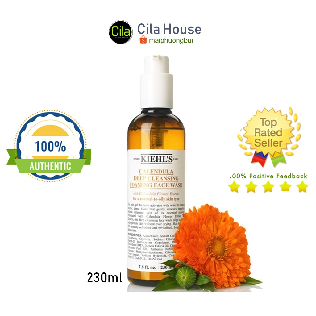 Sữa Rửa Mặt Kiehl's Hoa Cúc Calendula Deep Cleansing Foaming Face Wash 230ml - Cila House