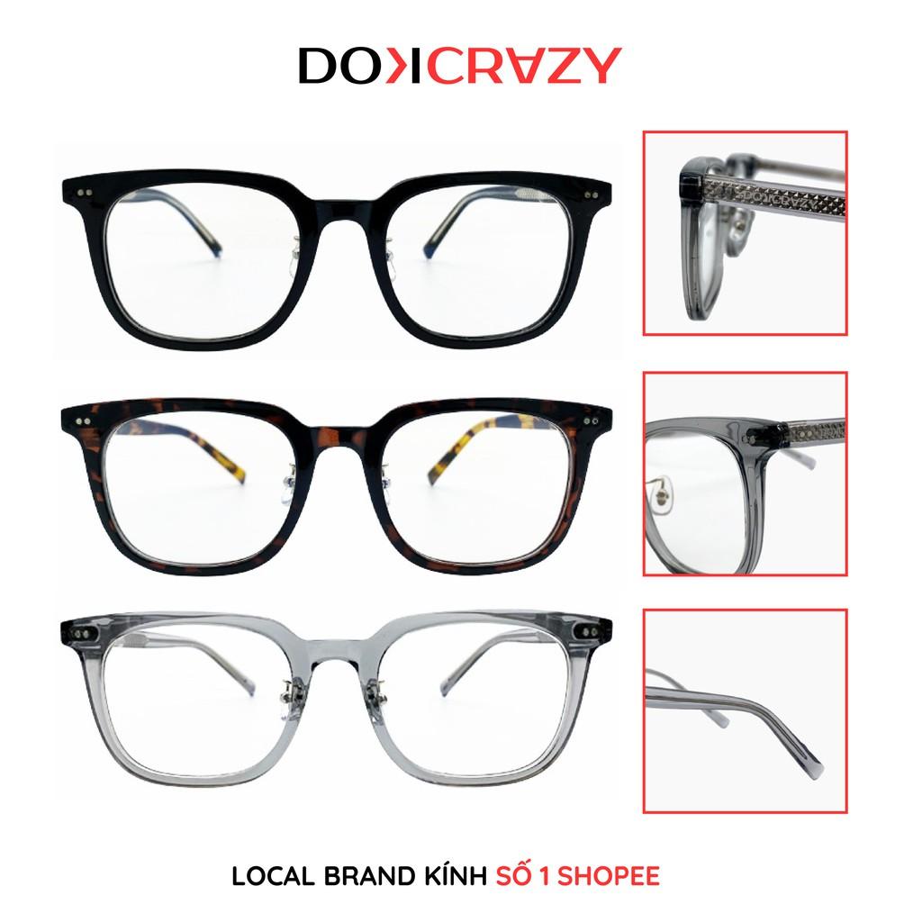 Gọng kính vuông nam nữ NICOS local brand DOKCRAZY mắt giả cận không độ thời trang cao cấp style retro...