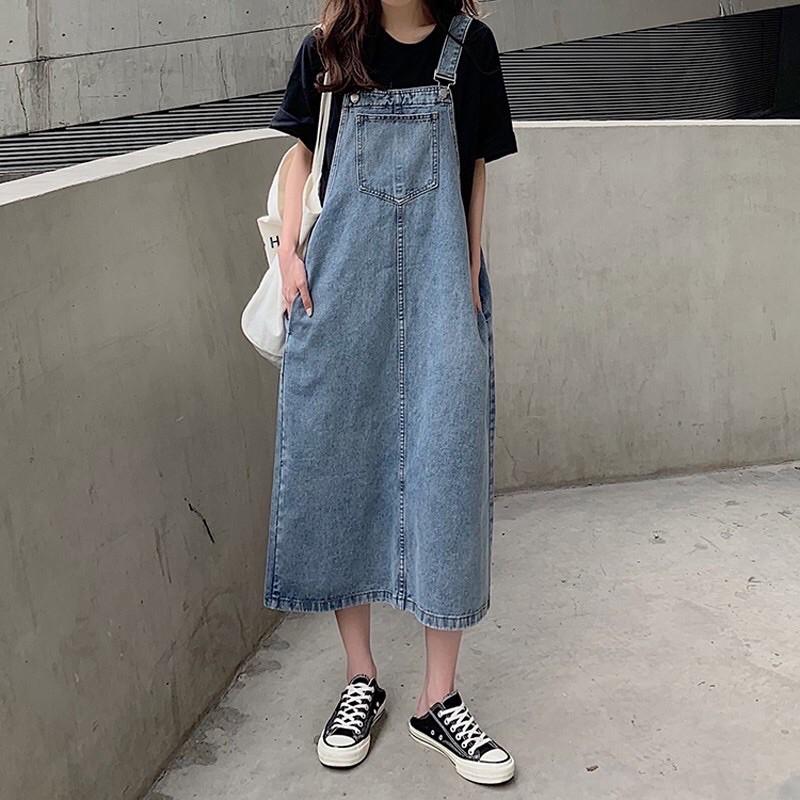 Yếm bò dáng dài - Váy yếm bò dáng dài