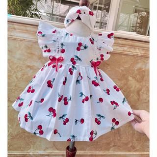 Váy hè cho bé gái💕𝑭𝑹𝑬𝑬𝑺𝑯𝑰𝑷 + TẶNG KÈM TURBAN💕 váy công chúa bé gái, đầm công chúa bé gái, váy chery xinh cho bé