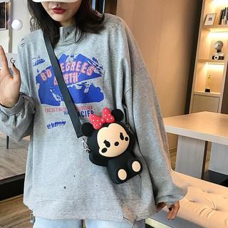 Túi Đeo Chéo Hình Chuột Mickey Xinh Xắn Cho Nữ