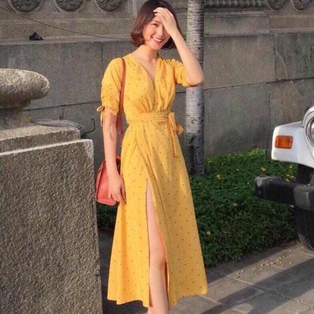 Đầm maxi bi (kèm hình thật)