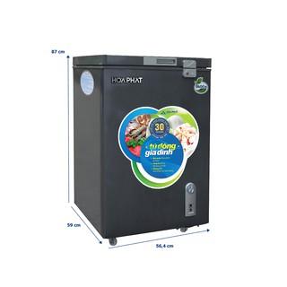 Tủ đông mini Hòa Phát HCF 106S1ĐSH 107 lít (màu đen)