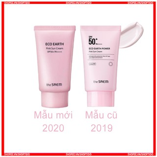 Kem chống nắng The Saem eco earth oower pink sun cream SPF50+ PA++++ 50ml