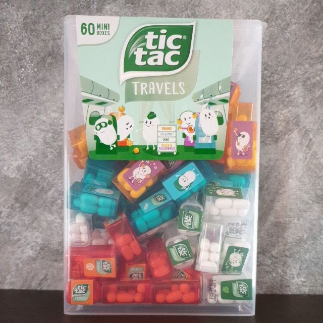 Tictac mini รสมิ้น,ส้ม,พีช,สเปียร์มิ้น