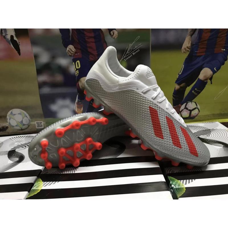 [HOT]Giày trẻ em Adidas X 18.3 AG giày bóng đá mũi nhọn ngắn 66