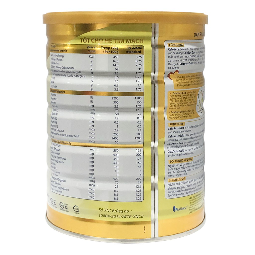 Sữa bột Calosure Gold - hộp 900g