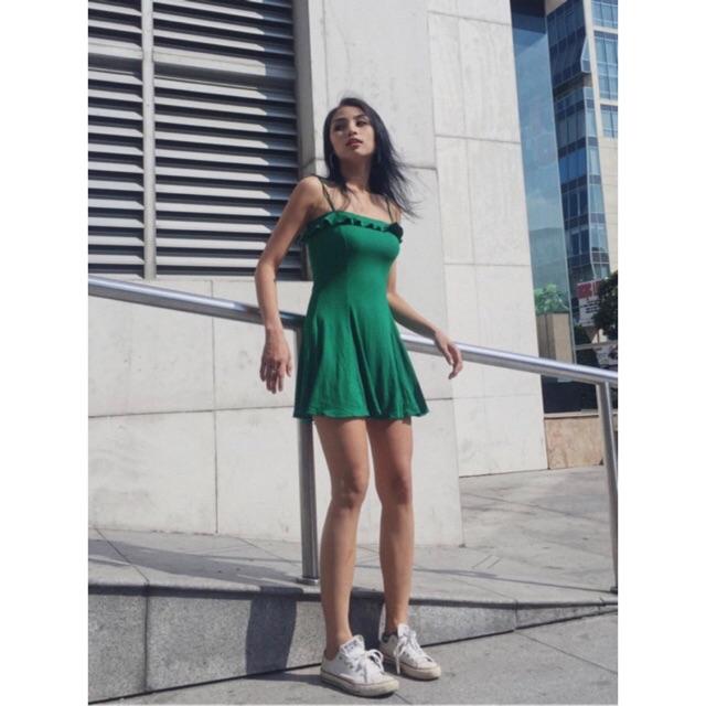 Váy Ribbed Flounce Cami Dress F21 VNXK