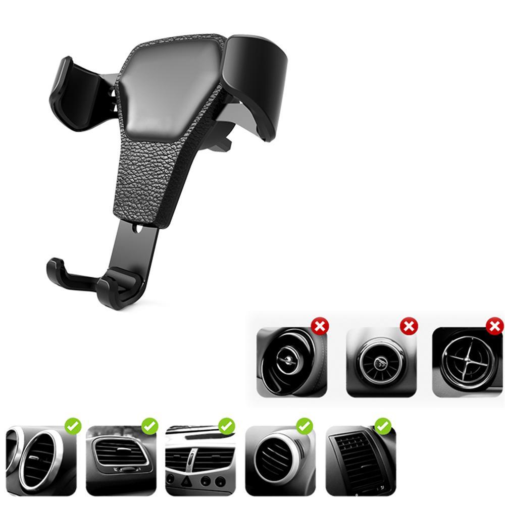 New car gravity outlet phone holder skin pattern universal multifunction bracket