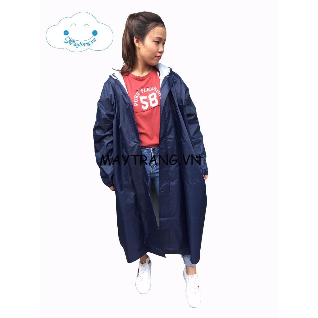 Áo mưa măng tô nữ vải dù thời trang màu xanh đen - 21575529 , 1003607869 , 322_1003607869 , 105000 , Ao-mua-mang-to-nu-vai-du-thoi-trang-mau-xanh-den-322_1003607869 , shopee.vn , Áo mưa măng tô nữ vải dù thời trang màu xanh đen