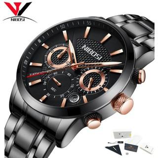 Đồng hồ nam dây thép đặc 6 kim Nibosi 2313 (fullbox) thumbnail