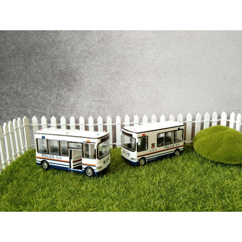 Set 4 xe buýt nhỏ bằng kim loại. xe tỉ lệ 1:64
