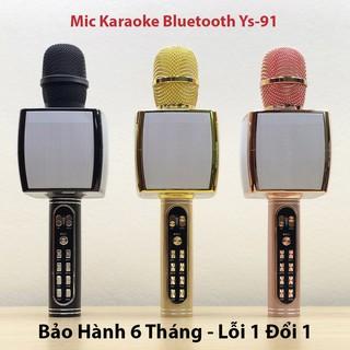 [ KỊCH SÀN ] Micro Karaoke Bluetooth Không dây YS - 91 hỗ trợ ghi âm thẻ nhớ, USB - Bảo Hành 6 Tháng