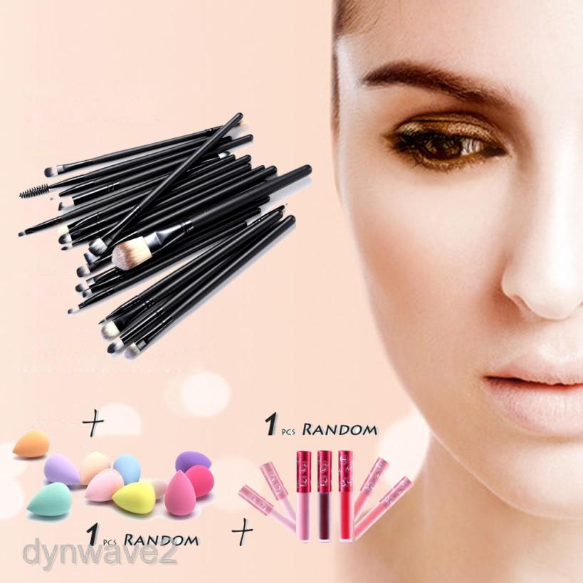 22X Professional Make up Brushes Foundation Brushes Set Kit Coffee/Black