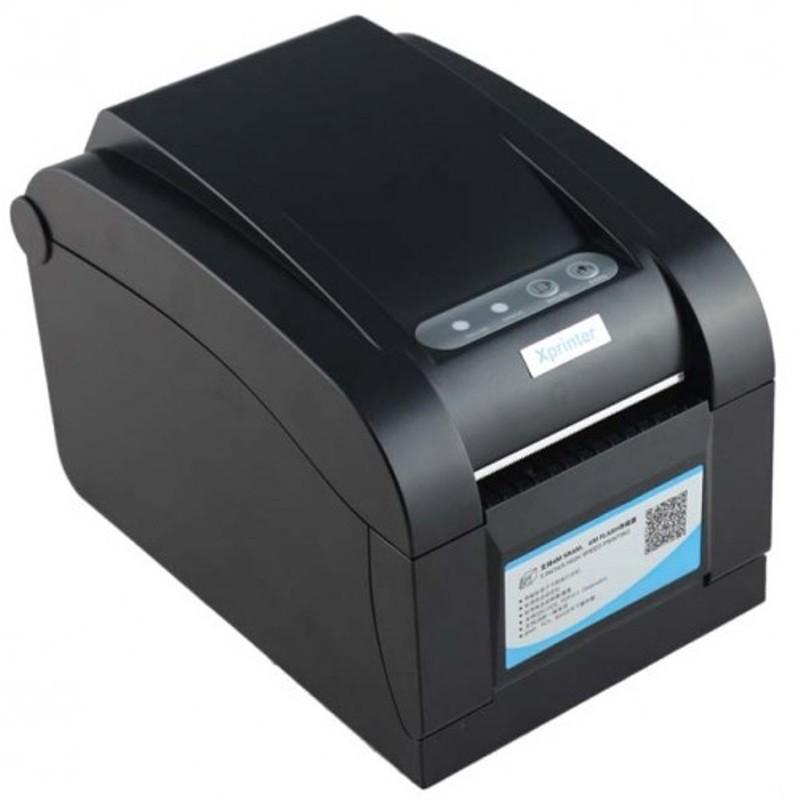 Máy in nhiệt in tem in mã vạch, in tem ghtk Xprinter XP-350BM LAN/USB