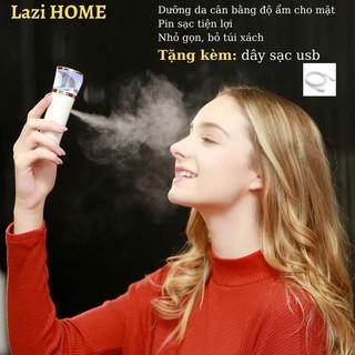 máy phun sương mini, máy xông mặt loại tốt Lazi HOME – {HÀNG CHẤT} Chống lão hóa da, cân bằng độ ẩm cho da