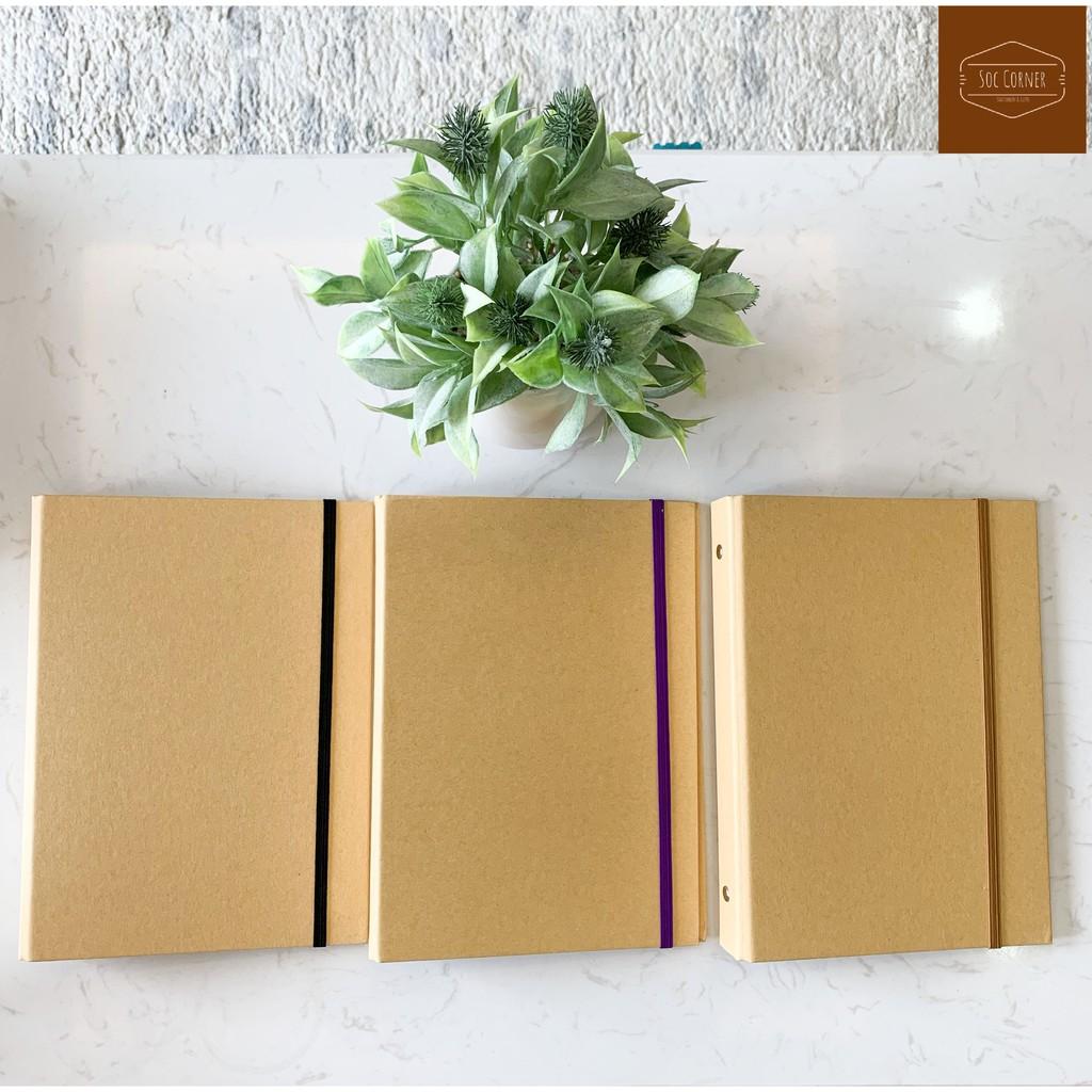 Bìa sổ còng giấy Kraft cứng cáp A5 (6 lỗ) B5 (9 lỗ) A4 (4 lỗ)