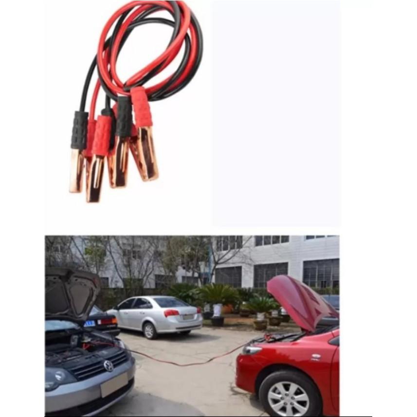 Cáp kích điện ắc qui ô tô FireWire 1000A + Khuyến mãi tặng kèm dây sạc cho 2 in 1 ĐT ...