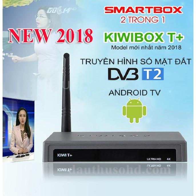 TIVIBOX TÍCH HỢP THU DVB T2 ĐẦU THU 2 TRONG 1 KIWIBOX T+