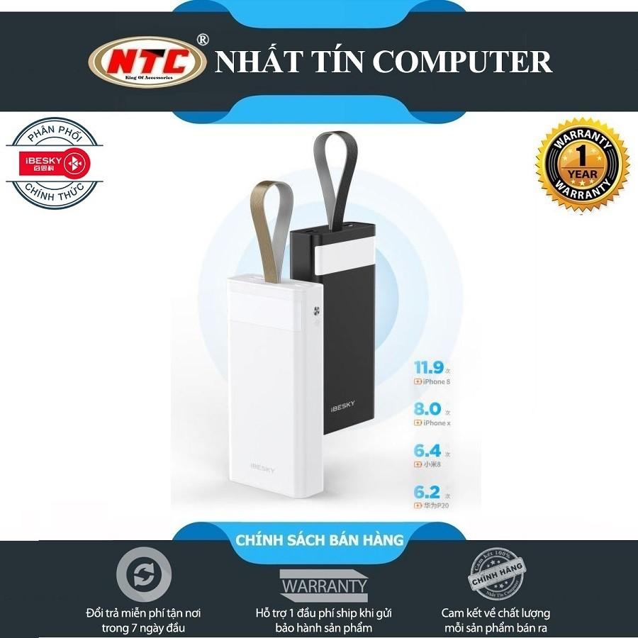 Pin sạc dự phòng iBesky PS303 30000mAh kiêm đèn pin cực sáng - Hãng phân phối chính thức
