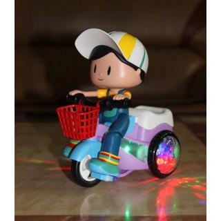 [TSM] Đồ chơi Xe đạp xoay 360 độ có đèn nhạc phát sáng, siêu dễ thương (kèm ảnh thật)