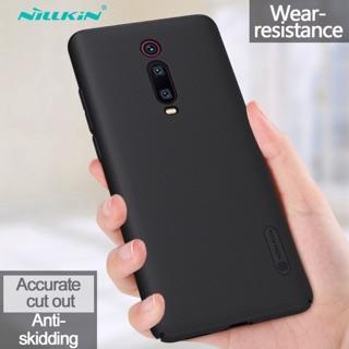 Ốp lưng Nillkin sần Xiaomi Redmi K20/ K20 Pro chính hãng - Tặng giá đỡ ( Đen )