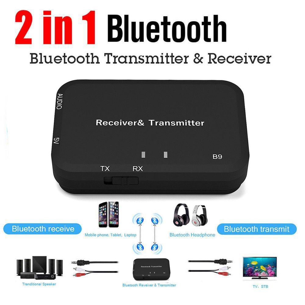 For TV Wireless 2-in-1 Bluetooth V4.2 USB Music Adapter Mini Audio Transmitter Receiver Giá chỉ 134.000₫
