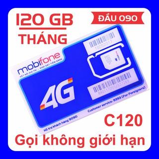 [Đầu số 090] Sim 4G MobiFone 4 GB ngày (120 GB tháng), miễn phí gọi nội mạng và 50 phút liên mạng thumbnail