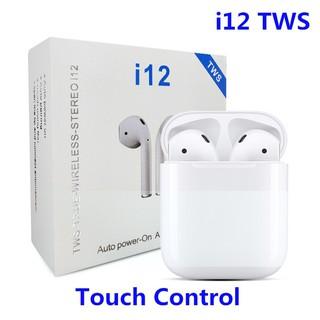 Tai Nghe Bluetooth Không Dây Nhét Tai i12 Cho Điện Thoại IOS Và Android - tặng kèm ốp bảo vệ aripod thumbnail