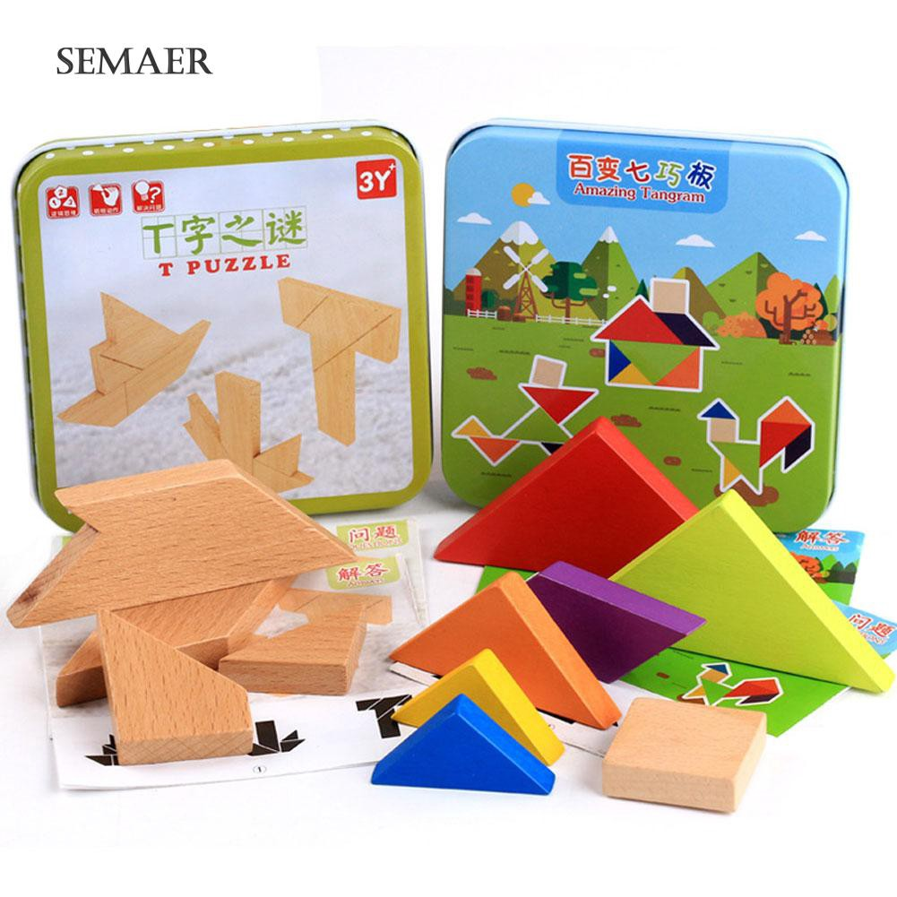 ☆ Wooden Baby Kids Educational Toys Jigsaw Puzzle Building Blocks Early Learning
