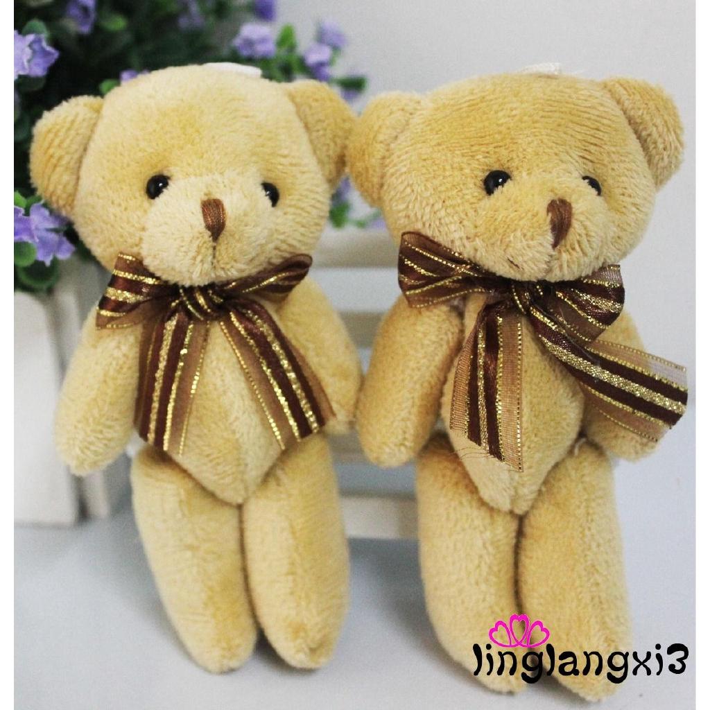 LNI-Mini Soft Plush Teddy Bear Craft Doll Applique/cute/baby Kids Girl Play Toy